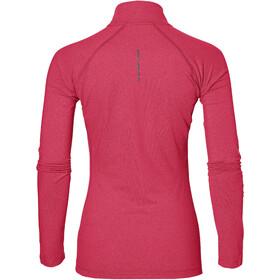 asics LS 1/2 Zip Jersey Damen cosmo pink heather